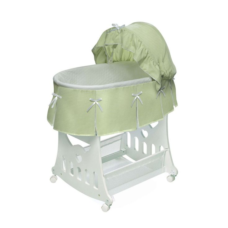 Bright With The Possibility Of Easy Rocking Bassinet Kolcraft In Gold