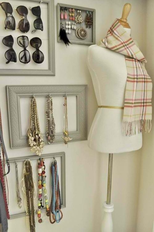 Loving this accessories wall!