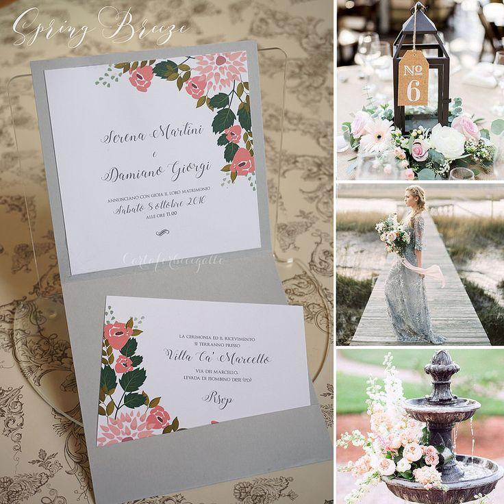 Spring Breeze Wedding Invitations - Partecipazioni Nozze handmade | da CartaForbiciGatto