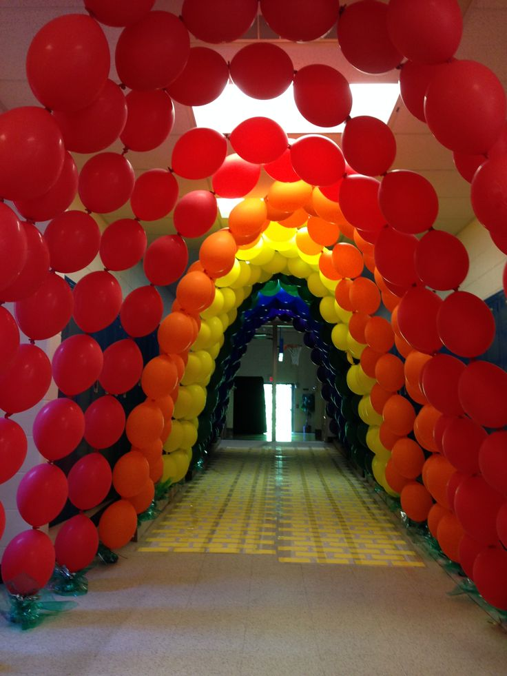 32 best images about middle school dance ideas on for How to make a rainbow arch