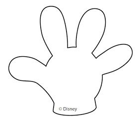 Mickey Mouse Hands or Gloves Templates.