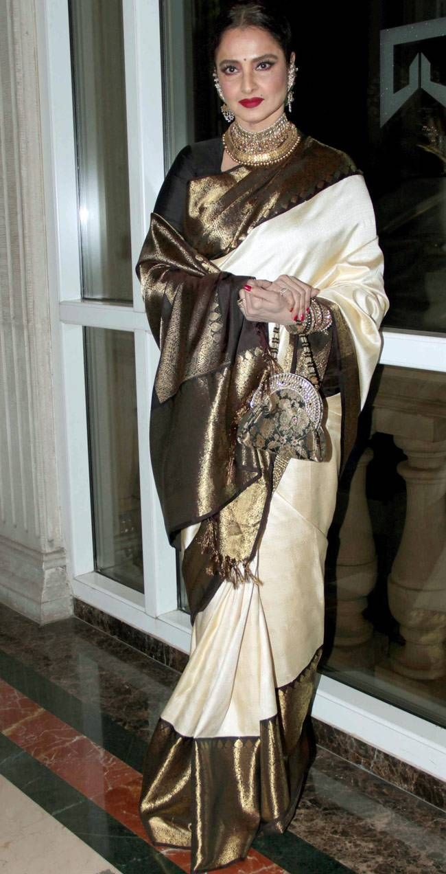 Rekha At The Asia Spa Awards Bollywood Fashion Style Beauty Hot Desi Saree Bollywood
