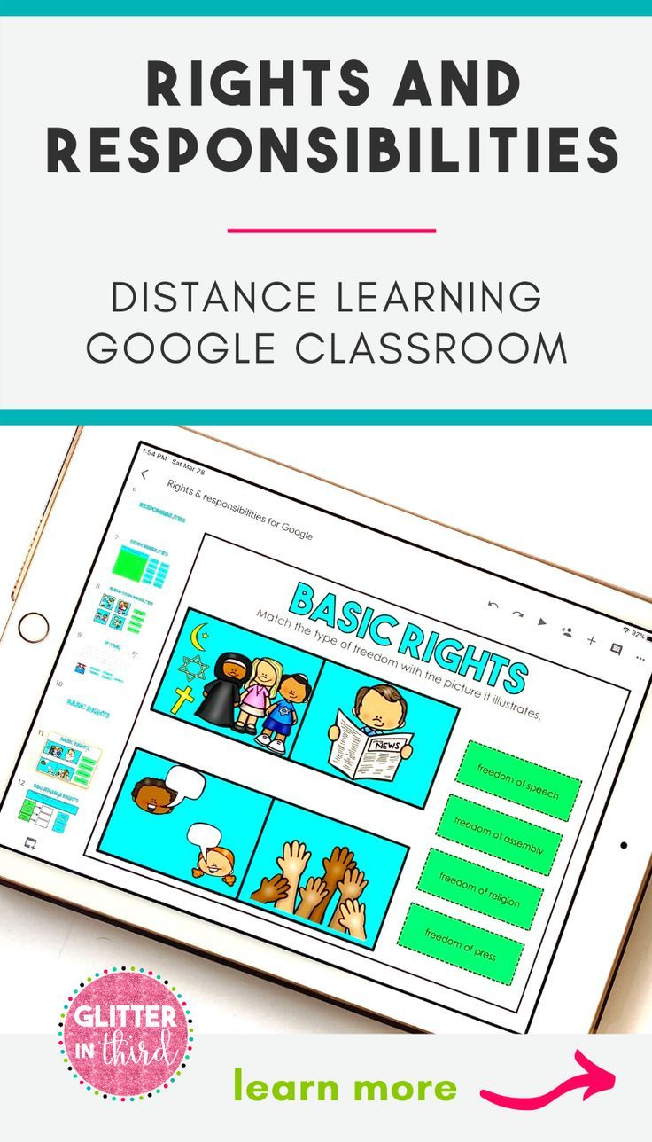 Google Classroom Distance Learning Rights and Responsibilities   Distance  learning [ 1288 x 736 Pixel ]