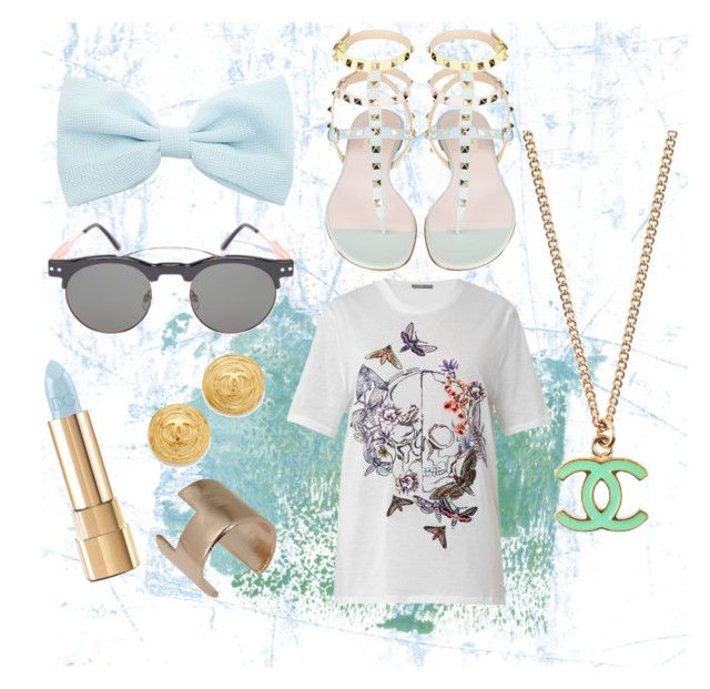 #LazySummer by vonevenseth on Polyvore featuring polyvore, fashion, style, Alexander McQueen, Chanel, Bjørg and Dolce&Gabbana