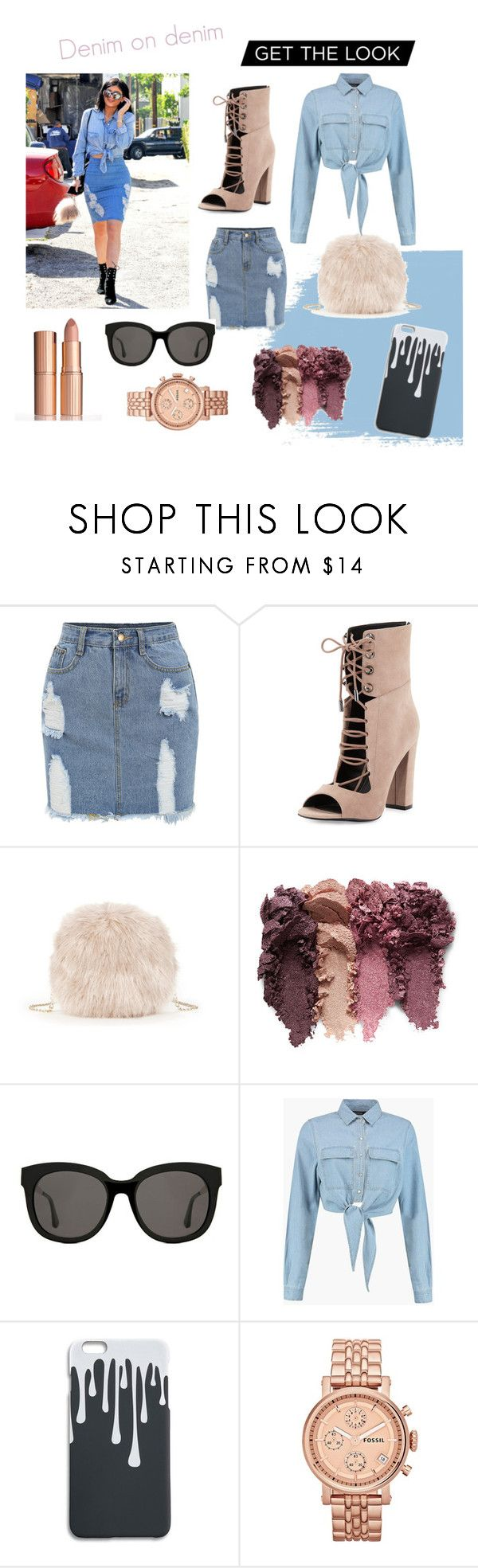 """Kylie"" by juliesvankjaer on Polyvore featuring Kendall + Kylie, Sole Society, Gentle Monster, Boohoo and FOSSIL"