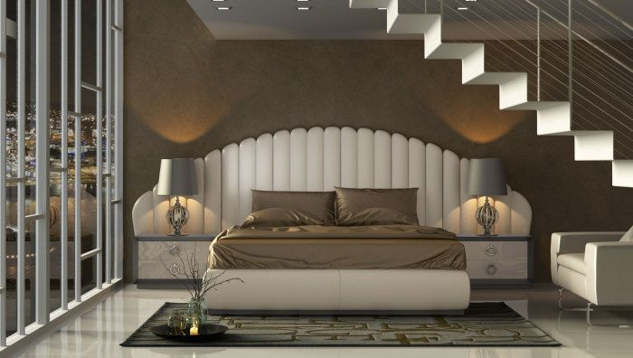 Miami and Aventura Contemporary and Modern Furniture - Es Kl 105 Large Headboard - HERVALUSA