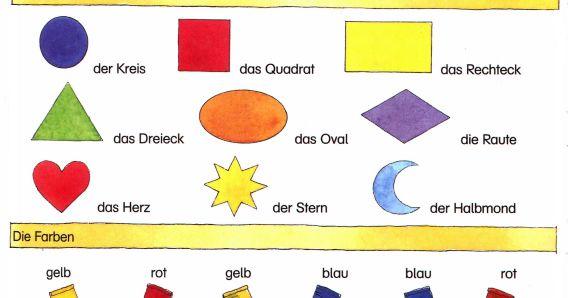 formen und farben deutsch lernen german language learning german language learning german. Black Bedroom Furniture Sets. Home Design Ideas
