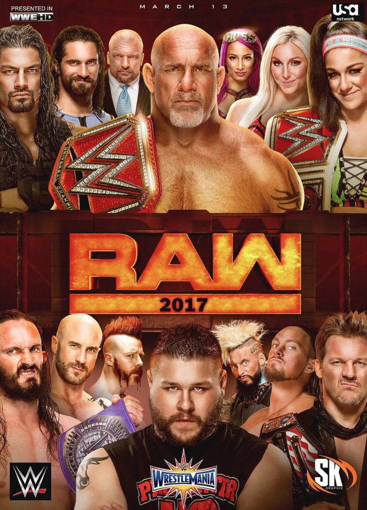 WWE Raw: March 13, 2017 by SK-Graphix on @DeviantArt | WWE ...