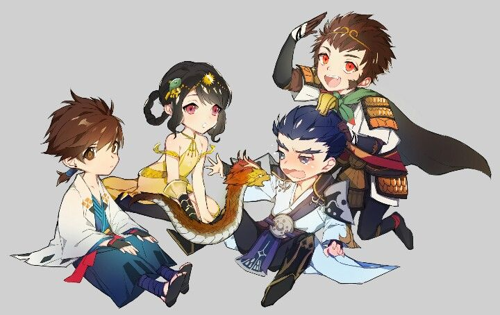 4 Lordes: Ave,Rin,Lu Bu and Sun Wukong -Seven Knights