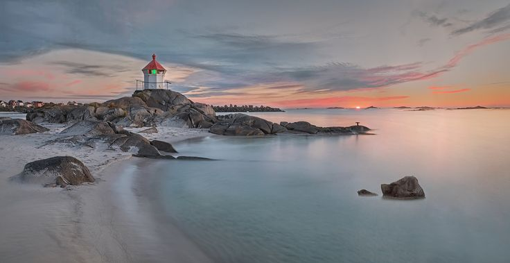 Little Lighthouse - Lofoten - This small lighthouse is located on the coast between Unstad and Eggum in Lofoten.