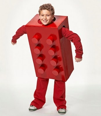 Lego brick costume from Country Living