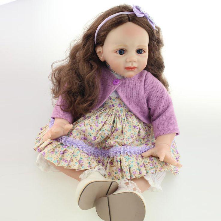 2016 nouveau Design 55 60 CM Silicone Reborn bébé DollsHandmade100 % Safe Reborn poupées bébés Toy cheveux longs toilettage réel douce tactile dans Poupées de Jouets & Loisirs sur AliExpress.com   Alibaba Group