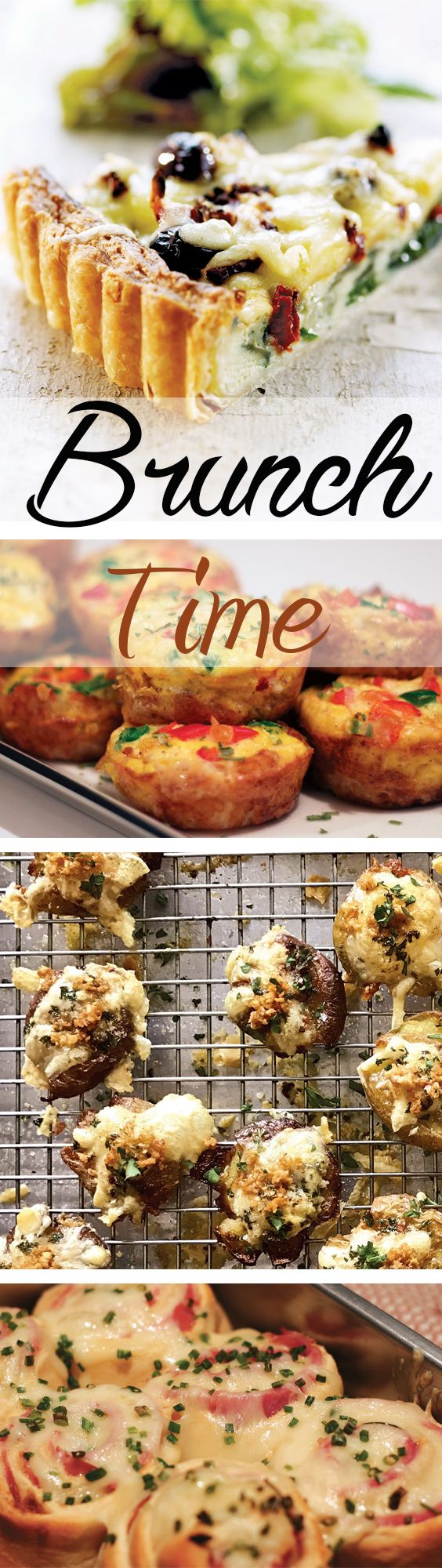 Enjoy a better brunch with Spinach and Sundried Tomato Quiche from Jarlsberg plus Chef George Duran's Brown Sugar Ham and Cheese Sticky Buns, Spicy Tater Tot Breakfast Muffins and Cheesy, Crispy Smashed Potatoes.
