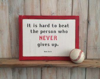 Baseball Decor Baseball Sign Baseball Quote Wooden Baseball