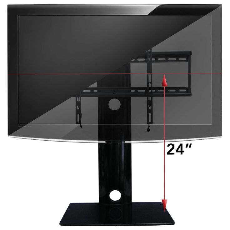"How it measures up! -  This TV mount with shelf measures 29 inches tall from bottom to top of column which is not including TV height. The shelf is 17.5"" wide and 14"" deep (12"" deep of usable shelf space). The shelf has the ability to hold up to 35 pounds each without exceeding the total weight of 110 pounds including the TV. Maximum TV weight is 80 pounds. This unit weighs in at just 21 pounds. http://www.av-express.com/TV-Wall-Mount-With-Shelf"