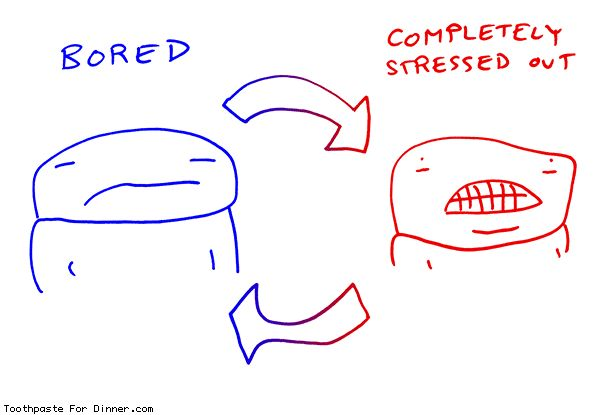 Toothpaste For Dinner by @drewtoothpaste - bored stressed cycle