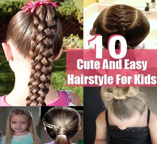 cute hairstyles kids easy