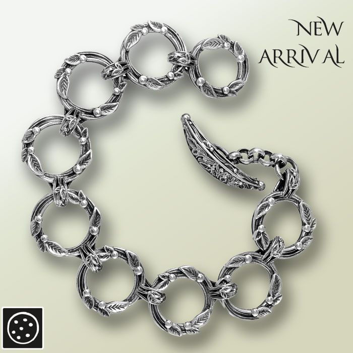 A new sterling silver floral link bracelet. Check out the link for more details and join our newsletter to get your exclusive discount.