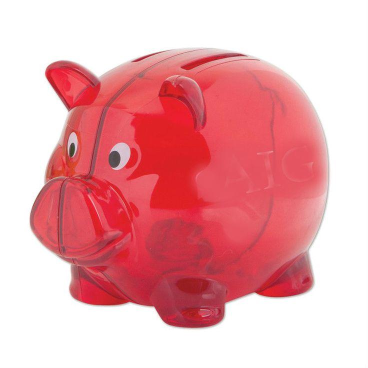 100 Pcs Red 4 Plastic Piggy Bank