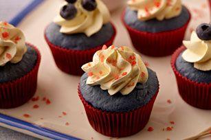 Petits gâteaux bleu velours - Une petite gâterie toute douce, parfaite pour la réception-cadeaux pour bébé !