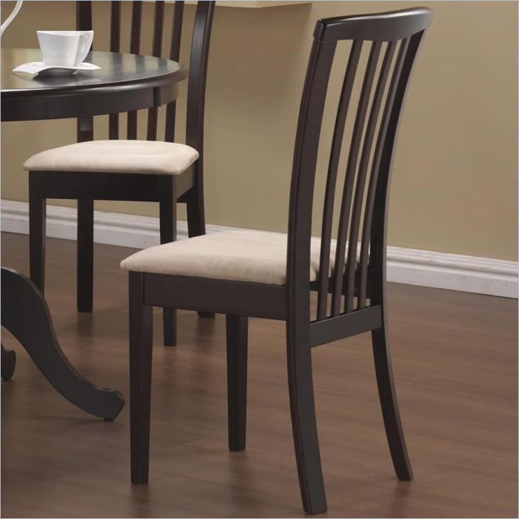 Coaster Brannan Slat Back Dining Chair in Rich Cappuccino23 best Dining Room Chairs images on Pinterest   Dining room  . Low Price Dining Chairs. Home Design Ideas