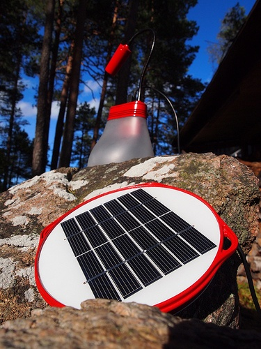 BELL Solar lamp - charging in Norwegian Woods