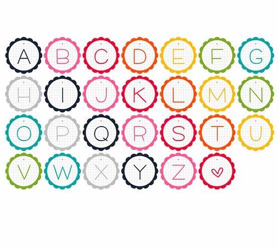 alphabet garland - free printables