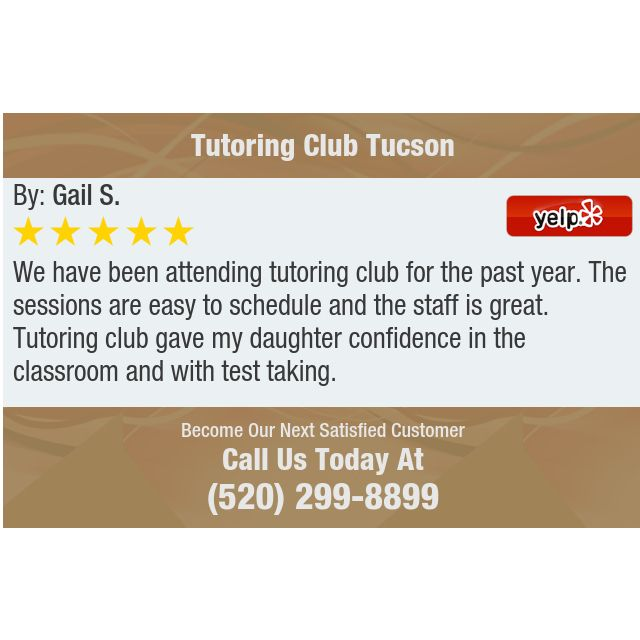 We have been attending tutoring club for the past year. The sessions are easy to schedule...