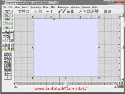 DesignaKnit 8 Original Pattern Tutorial - Design A Baby Sweater From A Schematic
