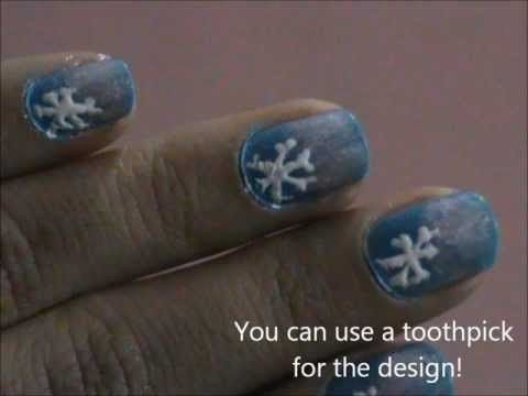 Winter snow nail designs for short nails- Really Easy Nail Designs For Beginners