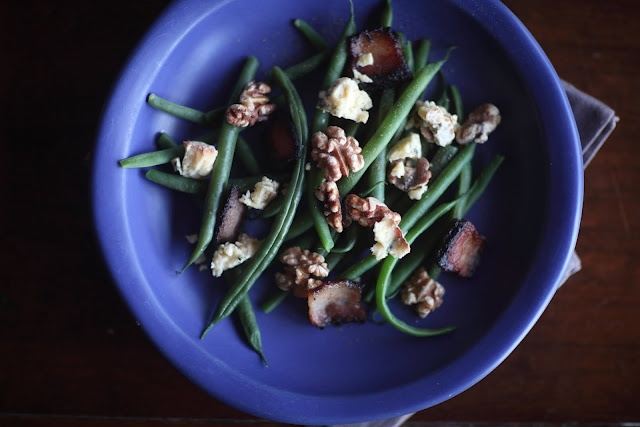 Green Beans With Roquefort and Walnuts // a day that is dessertCoffe, Heart, Heavy Snow, Beautiful, Green Beans, Walnut, Mr. Beans, Roquefort, The Roller Coasters