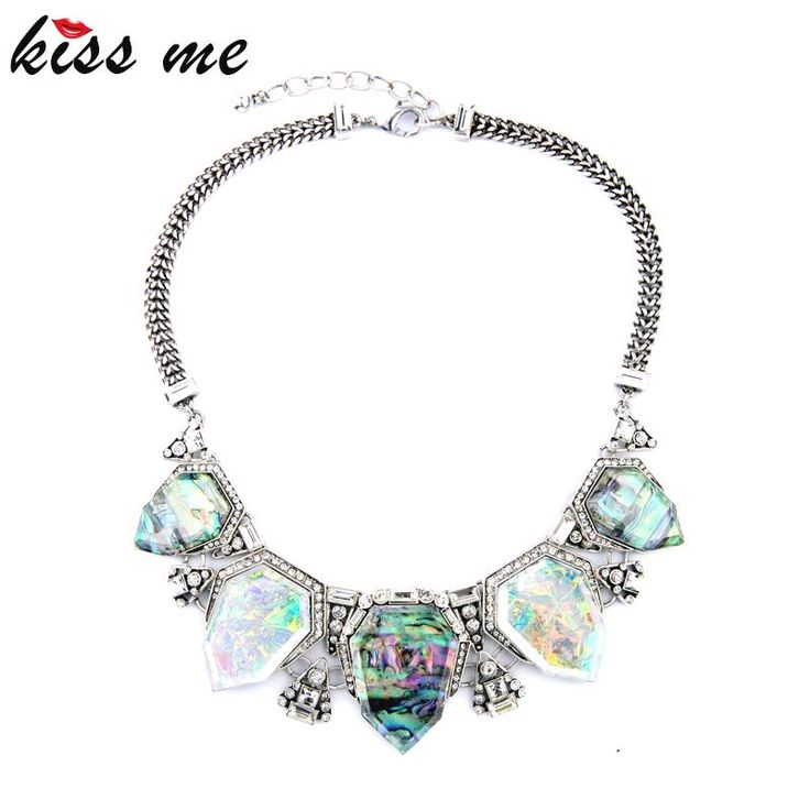 Exaggreated Luxury Designer Jewelry Geometric Artificial Gems Pendants Maxi Choker Necklace That`s just superb!Visit us: www.servjewelry.c... #shop #beauty #Woman's fashion #Products #homemade