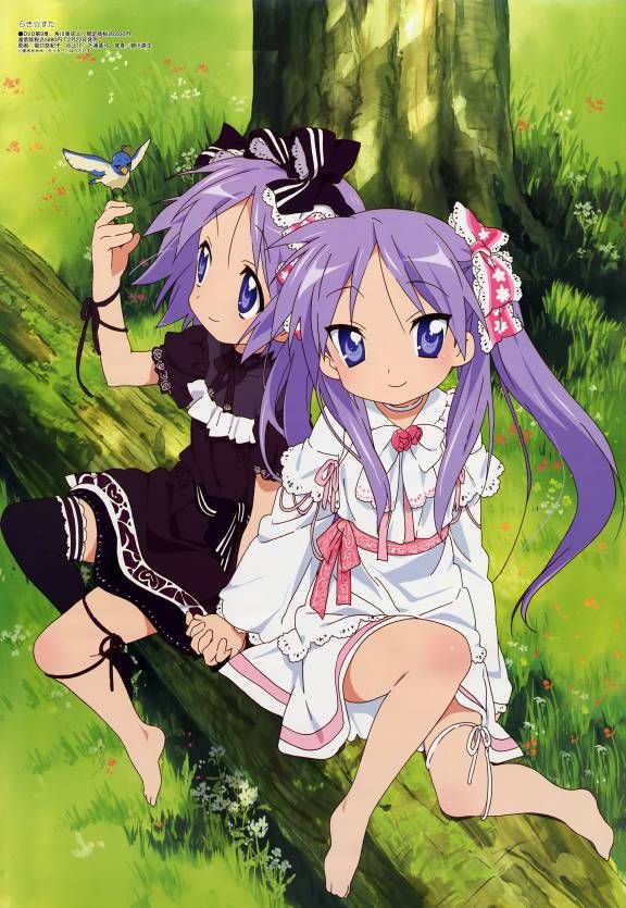 Tsukasa and Kagami (Seems more like Kagami should be the dark one) *Snicker*