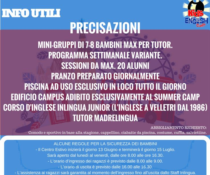 "Inlingua Velletri Summer Camp ""We do things Differently"""