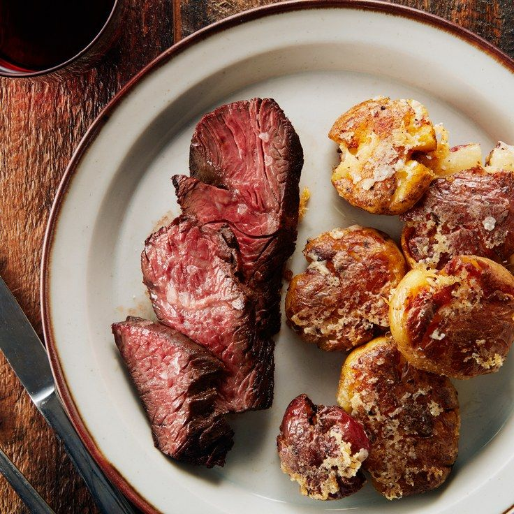 3-Ingredient Steak With Crispy Parmesan Potatoes