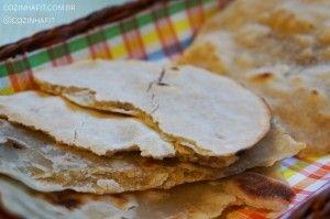 Pão árabe rápido sem gluten, sem lactose e sem ovo.