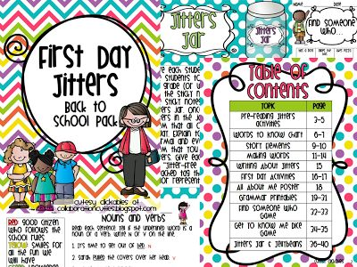 Activities! First Day Jitters is the perfect book for back to school ...
