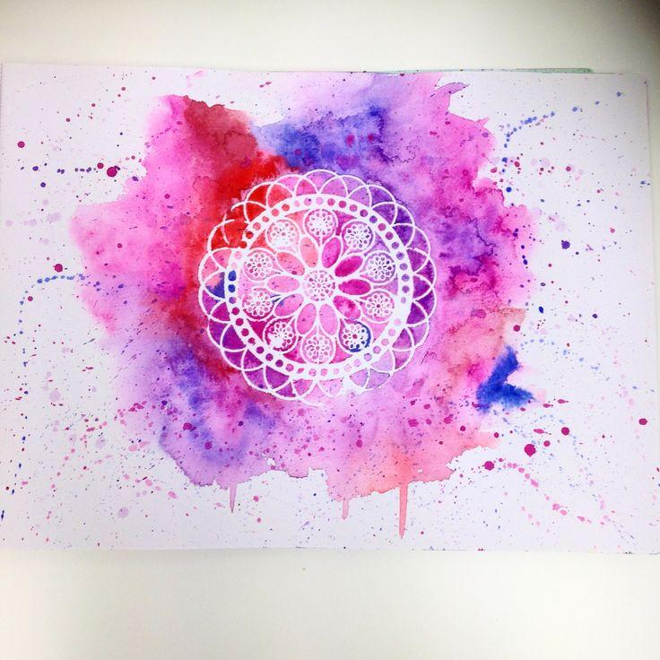 Watercolour stencil design