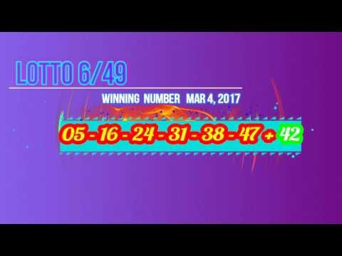 Past Winning Numbers Lotto 649 SAT, MAR 4, 2017 - (More info on: https://1-W-W.COM/lottery/past-winning-numbers-lotto-649-sat-mar-4-2017/)
