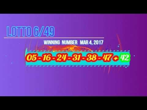 Past Winning Numbers Lotto 649 SAT, MAR 4, 2017 - (More info on: https://1-W-W.COM/lottery/past-winning-numbers-lotto-649-sat-mar-4-2017/)
