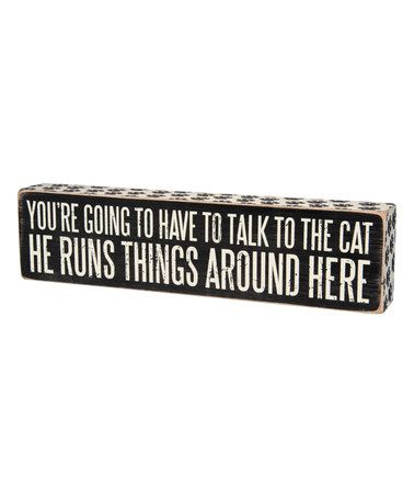 'Talk to the Cat' Quote