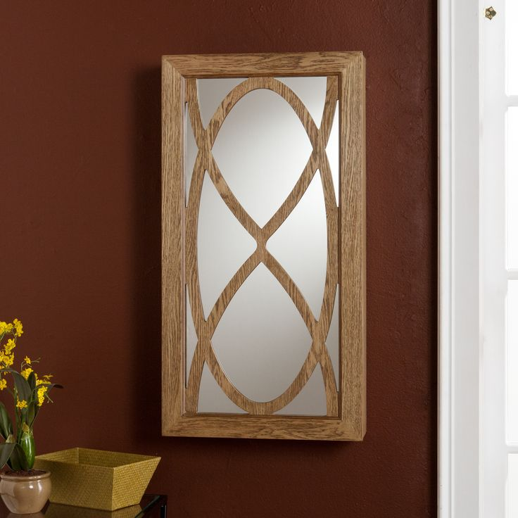 Wall Mounted Jewelry Box With Mirror Woodworking