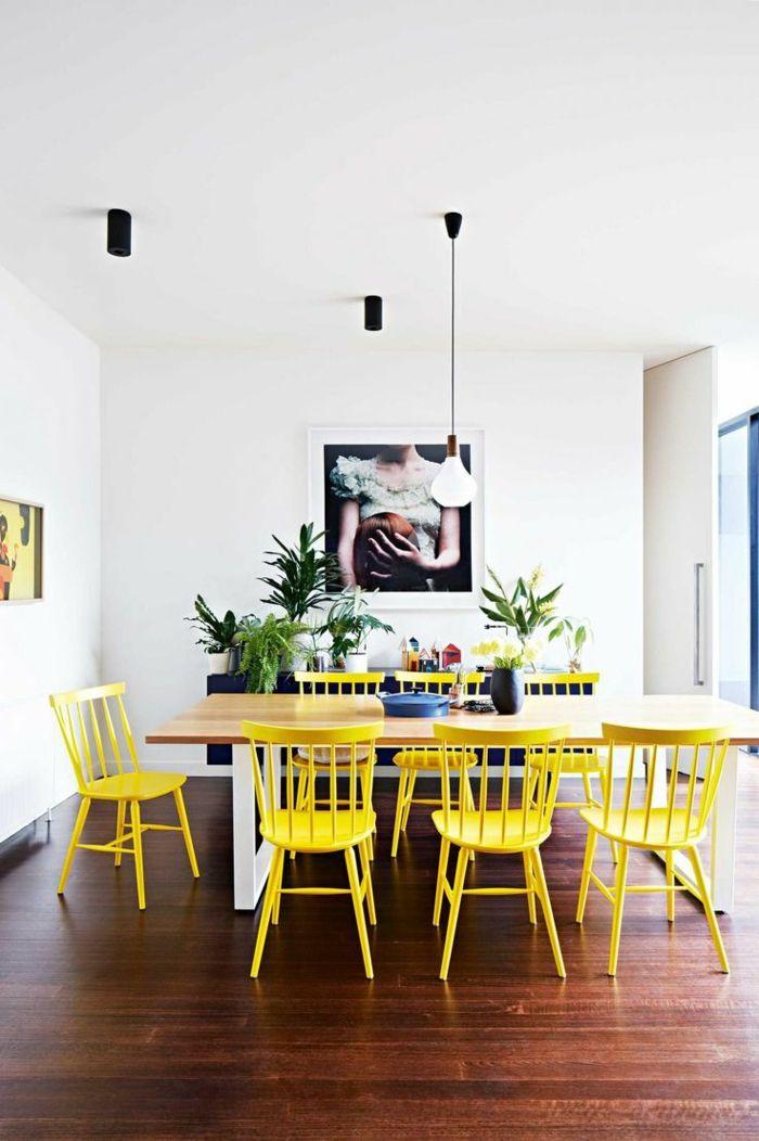 Die besten 25+ gelbes Esszimmer Ideen auf Pinterest Gelbe - esszimmer braun grun