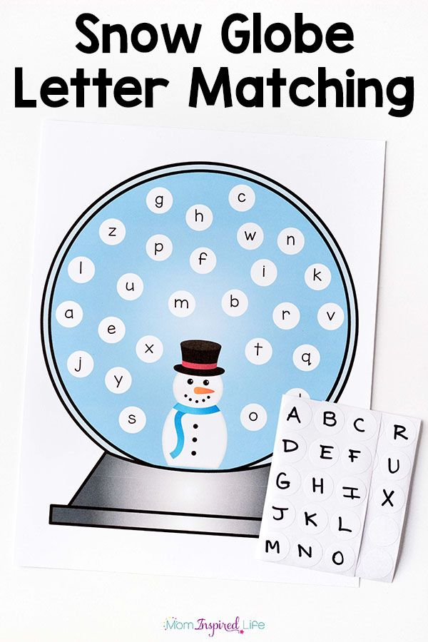 This snowman ABC match is such a fun winter activity for preschoolers! Great way to practice upper and lowercase pairing.