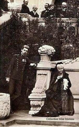 Queen Elizabeth and king Carol of Romania