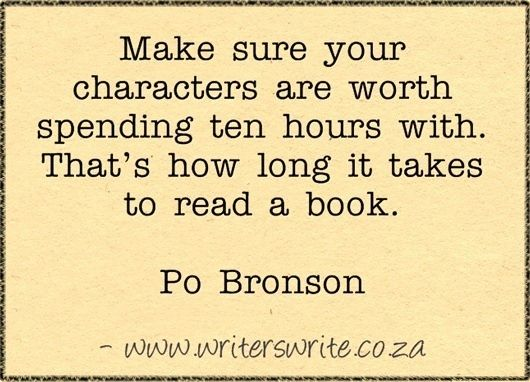 So true. If I can't get into the characters within the first few chapters I won't read the book.