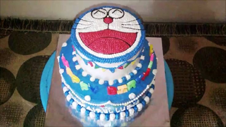 How to Make Doraemon Cake 2 Tier