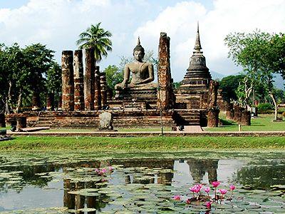 タイ族最古のスコータイ王朝の都跡!スコータイ歴史公園。タイのおすすめ観光名所