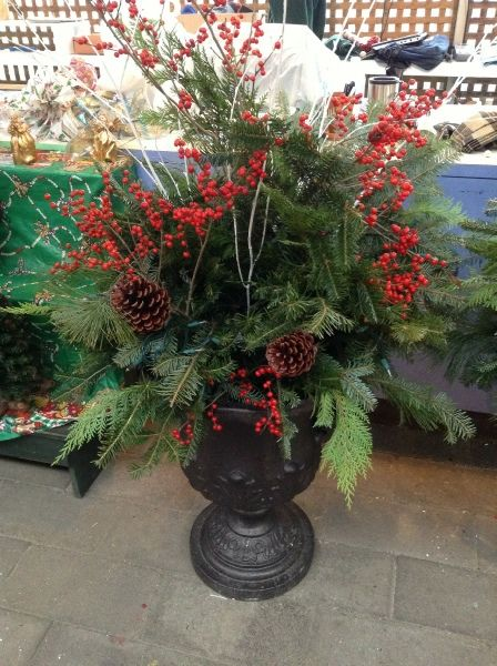 Christmas Decorating Ideas For Outdoor Urns : Best holiday season images on