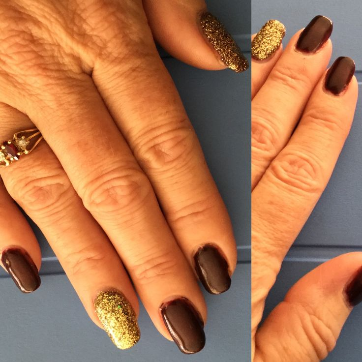 March 2017 - Red Carpet (Haute Couture) on last coat of polish sprinkle some nails with gold sparkles and then put under lamp! Top coat with a different brush so you don't contaminate your bottle of Brilliance with sparkles.